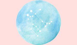 Gemini Full Moon Girl and Her Moon