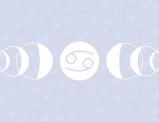 Cancer Full Moon Lunar Eclipse January Girl and Her Moon