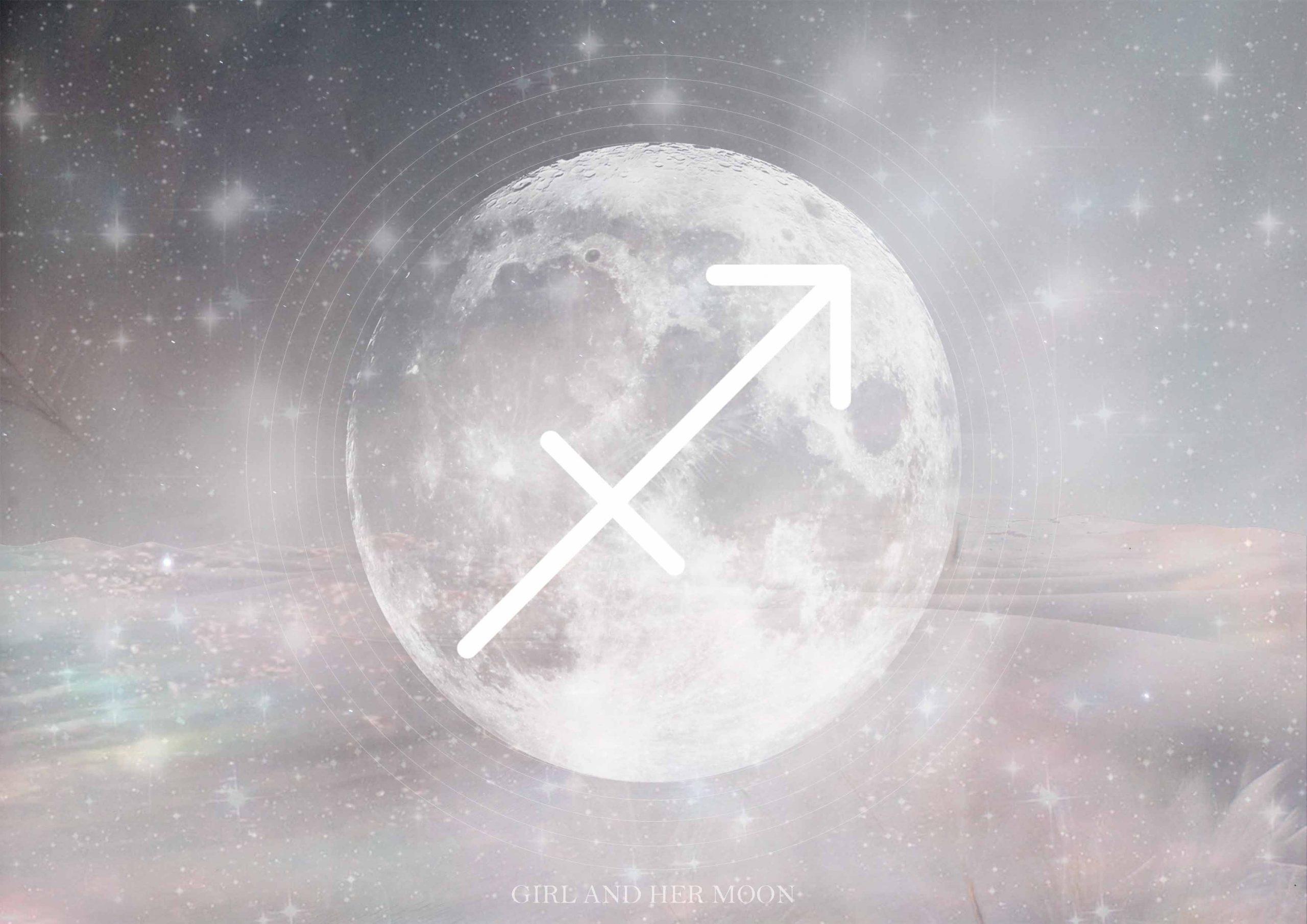 Sagittarius Full Moon Lunar Eclipse June 2020 - Girl and Her Moon