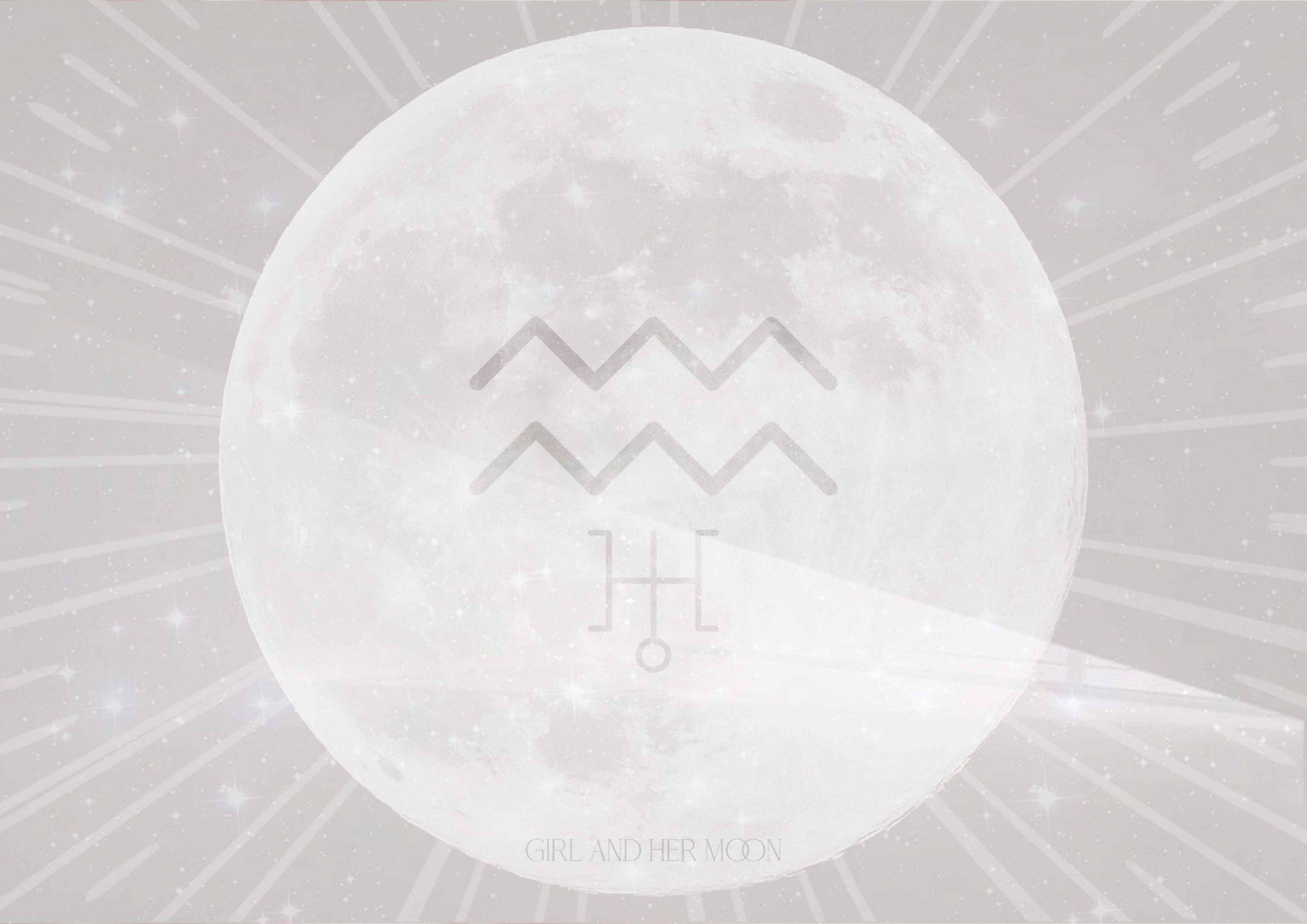 Aquarius Full Moon August 2020 - Girl and Her Moon