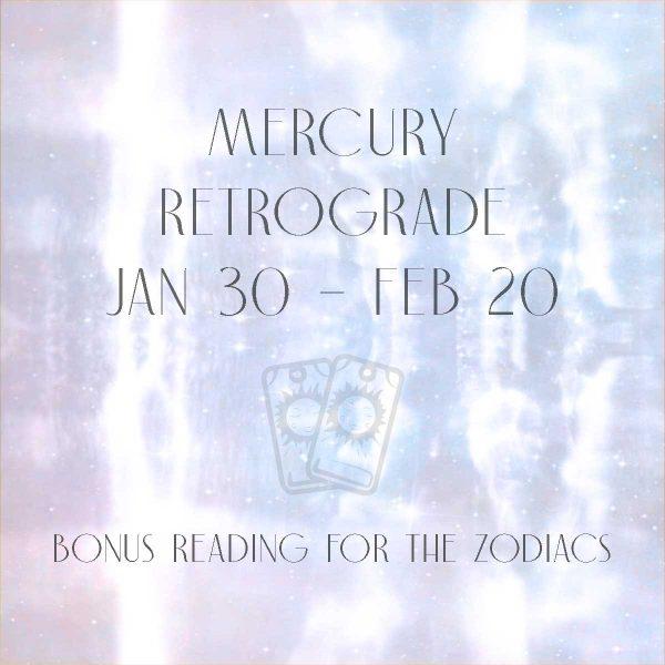 Mercury Retrograde January 2021 Bonus Reading Girl and Her Moon
