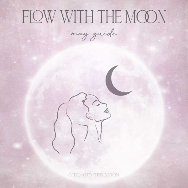 May Flow with the Moon Guide Girl and Her Moon