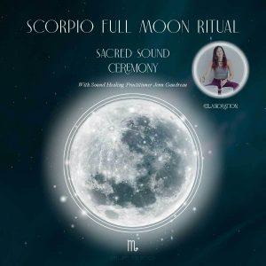 Scorpio Super Full Moon Ritual Girl and Her Moon