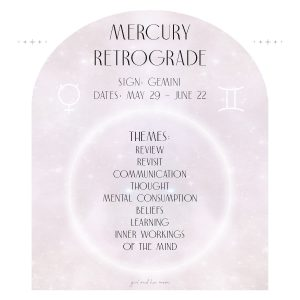 Mercury Retrograde Girl and Her Moon