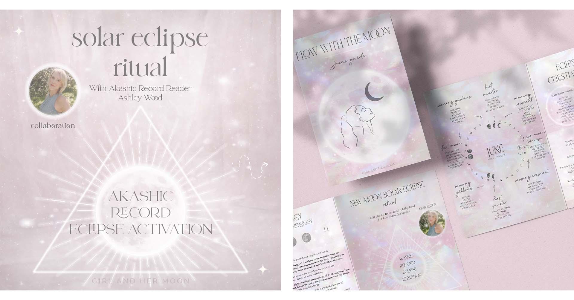 Gemini Solar Eclipse New Moon June 2021 Ritual Girl and Her Moon