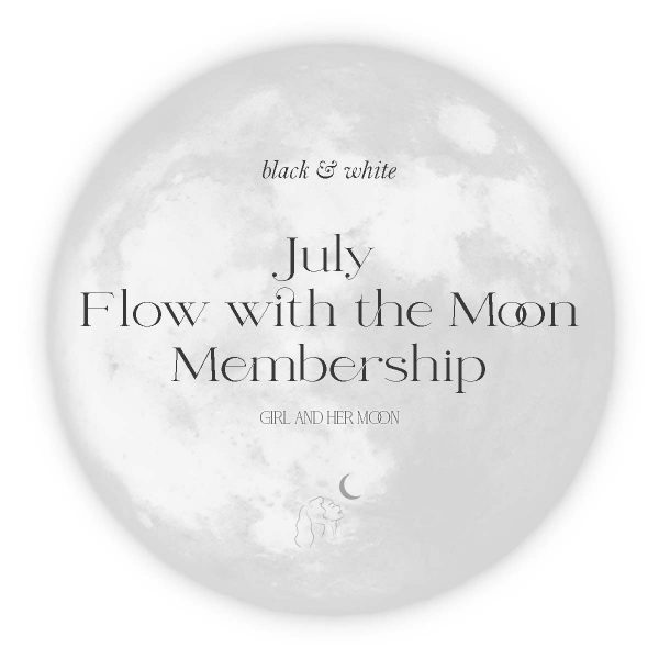 July Flow with the Moon Guide - Girl and Her Moon