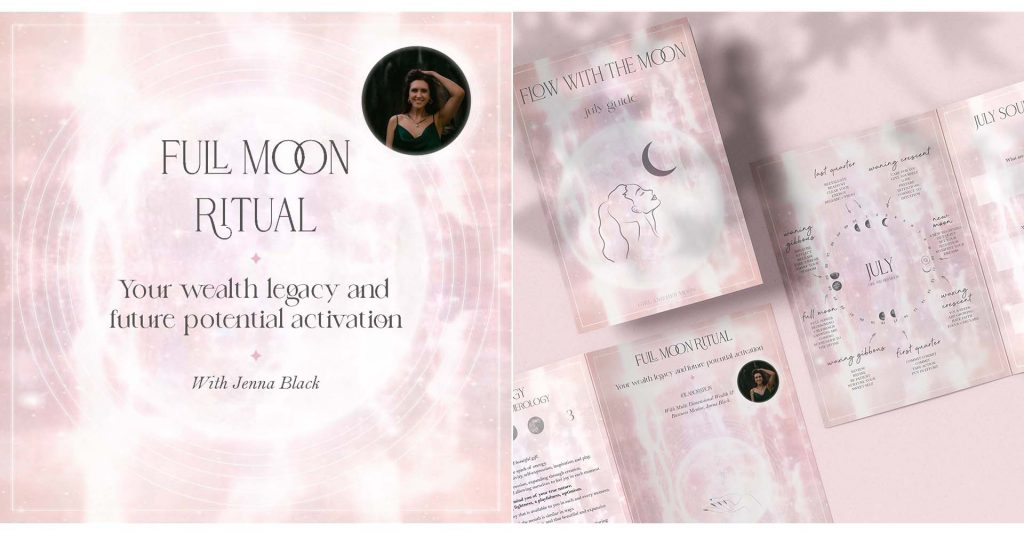 Aquarius Full Moon Ritual Girl and Her Moon