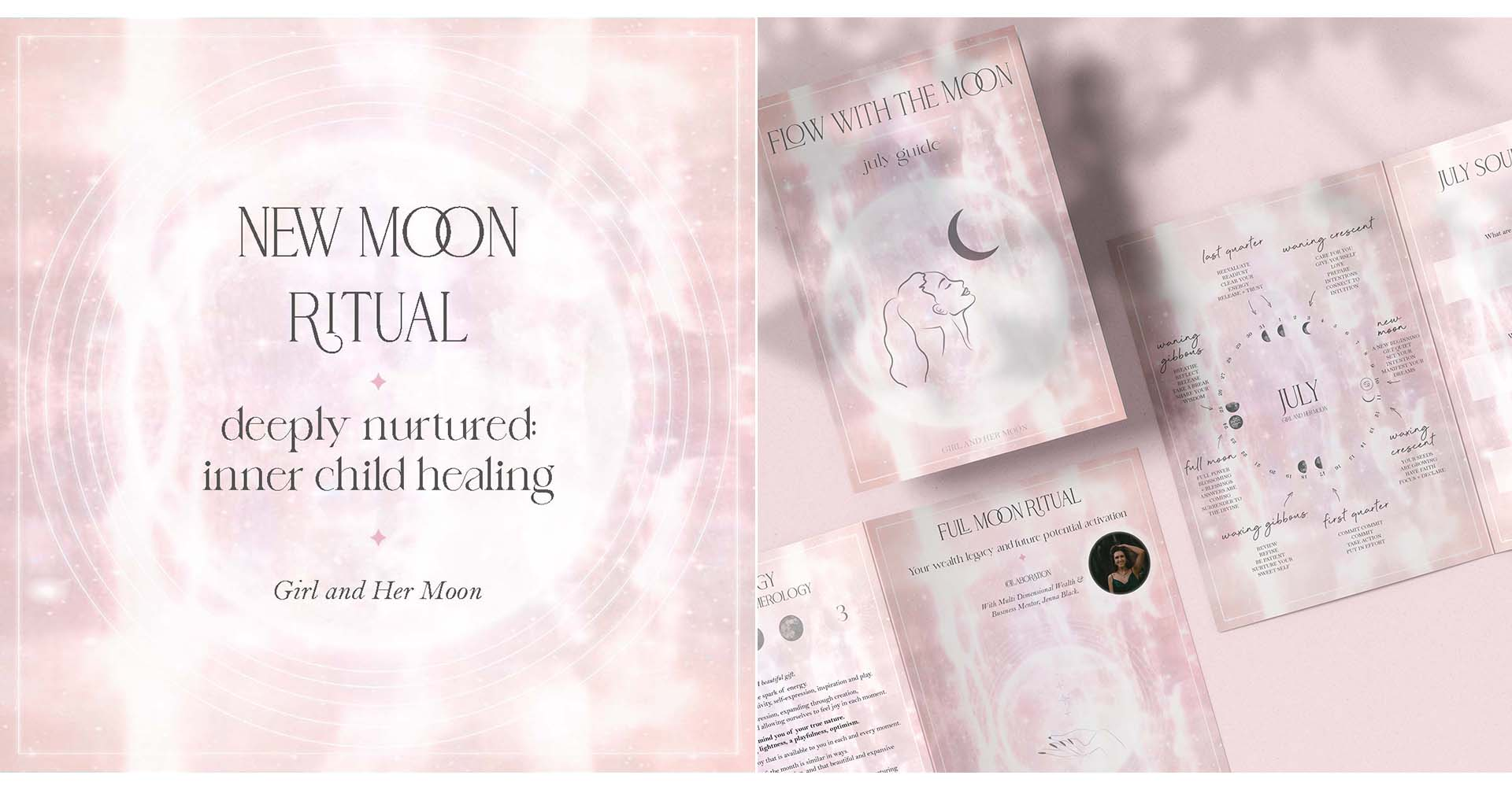 Cancer New Moon July 2021 ritual Girl and Her Moon