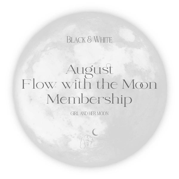 August Flow with the Moon Guide - Girl and Her Moon