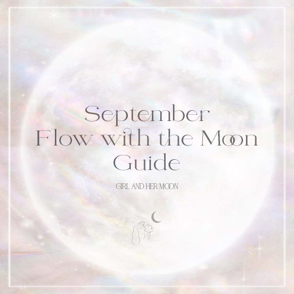 September Flow with the Moon Guide Girl and Her Moon