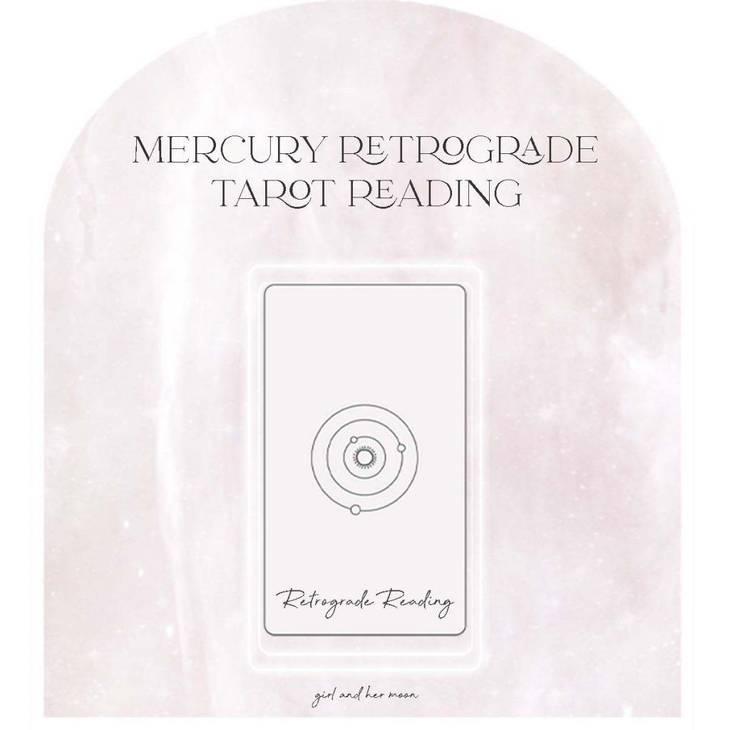 Mercury Retrograde Tarot Reading Girl and Her Moon