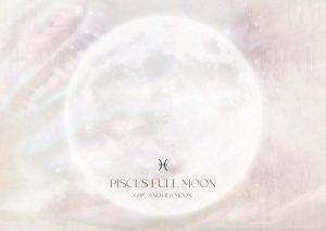 Pisces Full Moon September 2021 Ritual Girl and Her Moon