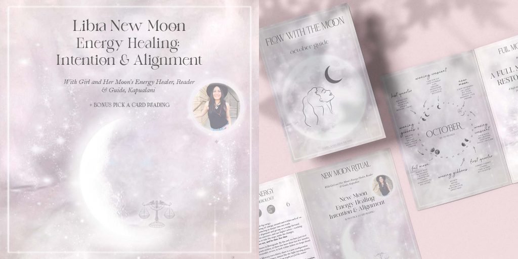 Libra New Moon Ritual October 2021 Girl and Her Moon